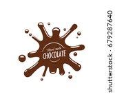 chocolate splash icon for... | Shutterstock .eps vector #679287640