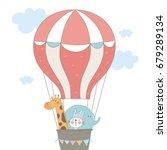 baby shower card design. cute... | Shutterstock .eps vector #679289134