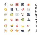 record studio outline icons... | Shutterstock .eps vector #679292863
