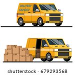delivery services. delivery... | Shutterstock .eps vector #679293568