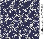 leaves seamless pattern. vector ... | Shutterstock .eps vector #679294480