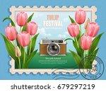 tulip festival ads  travel... | Shutterstock .eps vector #679297219