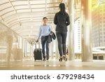 two passenger  walking in... | Shutterstock . vector #679298434