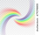 rainbow icon. shape arch... | Shutterstock .eps vector #679298800