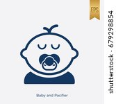baby and pacifier icon flat... | Shutterstock .eps vector #679298854