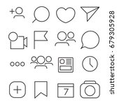 set of internet icons. line ... | Shutterstock .eps vector #679305928