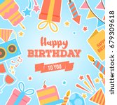 abstract happy birthday... | Shutterstock .eps vector #679309618