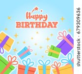 abstract happy birthday... | Shutterstock .eps vector #679309636
