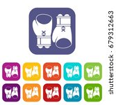 boxing gloves icons set vector... | Shutterstock .eps vector #679312663