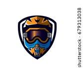 motocross sport emblem | Shutterstock .eps vector #679313038