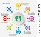 infographic template with... | Shutterstock .eps vector #679321774