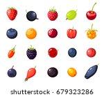 set single berries  cherry ... | Shutterstock .eps vector #679323286