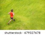 runner man running on summer... | Shutterstock . vector #679327678