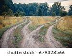 crossroads  two different...   Shutterstock . vector #679328566