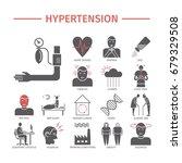 hypertension. symptoms ... | Shutterstock .eps vector #679329508