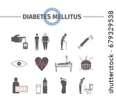 diabetes mellitus symptoms and... | Shutterstock .eps vector #679329538