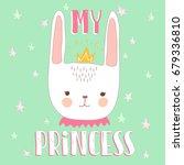 cute bunny illustration for... | Shutterstock .eps vector #679336810