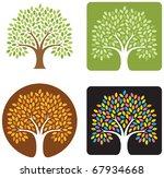 vector tree emblem | Shutterstock .eps vector #67934668