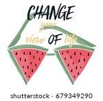 illustration watermelon graphic   Shutterstock .eps vector #679349290