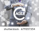 agile life cycle. agility... | Shutterstock . vector #679357354