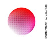 halftone stripes circle... | Shutterstock .eps vector #679360438