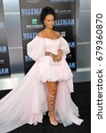 Small photo of Rihanna at the World premiere of 'Valerian And The City Of A Thousand Planets' held at the TCL Chinese Theatre in Hollywood, USA on July 17, 2017.