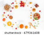 breakfast with muesli  fruits ... | Shutterstock . vector #679361608