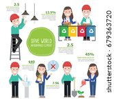 people save world. infographics ... | Shutterstock .eps vector #679363720