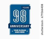98 years anniversary design...   Shutterstock .eps vector #679366408