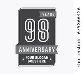 98 years anniversary design... | Shutterstock .eps vector #679366426