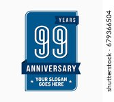 99 years anniversary design...   Shutterstock .eps vector #679366504