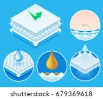 layered material while offering ... | Shutterstock .eps vector #679369618