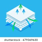 layered material while offering ... | Shutterstock .eps vector #679369630