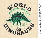Vintage Poster Of Fossil Bones...