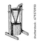 water clock clepsydra vector... | Shutterstock .eps vector #679370950