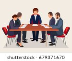 business people meeting in... | Shutterstock .eps vector #679371670