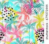 abstract summer seamless... | Shutterstock .eps vector #679372444