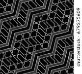 tiled seamless lattice wavy... | Shutterstock .eps vector #679375609