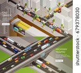 road elements isometric banners ... | Shutterstock .eps vector #679378030