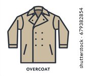overcoat clothing minimal color ... | Shutterstock .eps vector #679382854