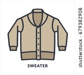 sweater cardigan pullover... | Shutterstock .eps vector #679382908