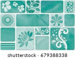 abstract home decorative paint... | Shutterstock . vector #679388338