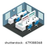 scientific laboratory interior... | Shutterstock .eps vector #679388368