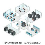 multistore composition of six... | Shutterstock .eps vector #679388560