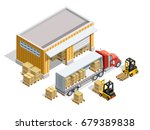 warehouse isometric template... | Shutterstock .eps vector #679389838