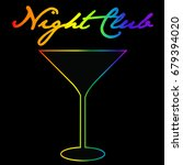 gay night club background with... | Shutterstock . vector #679394020