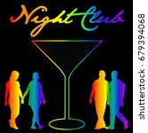 gay night club background with... | Shutterstock . vector #679394068