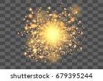gold glowing light burst...   Shutterstock .eps vector #679395244