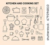 kithen and cooking equipment | Shutterstock .eps vector #679396810