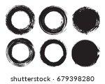 set of grunge circles.vector... | Shutterstock .eps vector #679398280